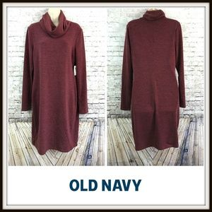 Old Navy Heathered Turtleneck Sweater Dress